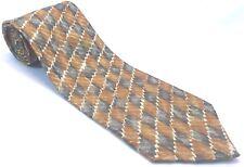 Gambert Custom Shirt Mens Tie Necktie 100% Silk Hand Made Geometric Orange Grey