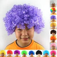 Kids Mens Funky Fun Afro Curly Hair Wig Women Festival Clown Fancy Party Costume