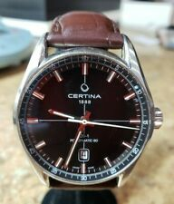 Certina 1888 DS-1 Powermatic 80 Automatic Stainless Steel Watch w/ Leather Band