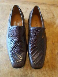 Gucci Crocodile Loafers