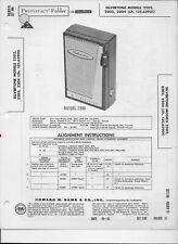 1962 PHOTOFACT Silvertone Transistor Radio Model 2202 3 4 Manual #1587