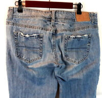 American Eagle Women's Artist Boot Cut Jeans Medium Wash Distressed Size 10 S