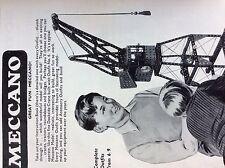 M6-9d ephemera 1950s advert meccano complete outfits crane