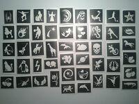 40 x stencil (misti) per scintillio tatuaggi & volto vernice tagli / secondi