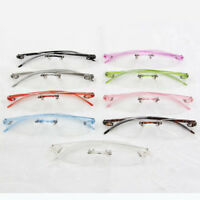 Multi Colors Unisex Eyeglasses Super Light Soft Rimless Glasses Optical Frames