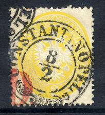 AUSTRIA PO IN TURKISH EMPIRE 1863 Arms 2 Soldi used