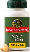 Maca 800mg - 100 Tablets   Peruvian Naturals