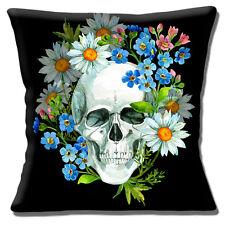Retro Kitsch Mexikanischer Sugar Skull Tag der Toten schwarz 40.6cm Kissenbezug