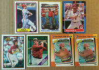 Mike Schmidt LOT of 6 NM+ cards 1987-1990 HOF Philadelphia Phillies Topps Bowman