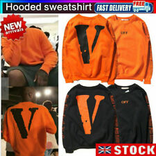 OFF WHITE big V men's Casual Hip Hop Long Sleeve Pullover Sweatshirt Jumper Pop