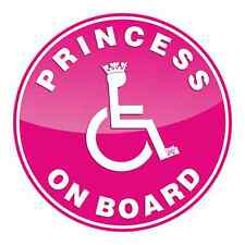 Princess On Board Car Window Sticker Disabled Child Safety Adhesive Decal