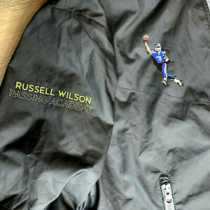 Russell Wilson Passing Academy Nike Windrunner Jacket Adult Small 917809 Blk NWT