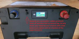 Deep cycle lithium 100ah lifep04 battery