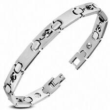 Bracelet à maillons scorpion zodiac et panthère avec découpes et finitions en ac