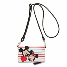 Nwt Disney Mickey & Minnie Mouse Emoji Wallet Crossbody Disney Boutique