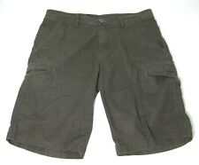COLUMBIA Mens Brown Flat Front Cargo Shorts (Size 34) 100% Cotton 7 Pockets!