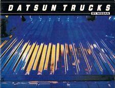 Datsun Nissan Pick Up 1981 USA Market Sales Brochure Li'l Hustler King Cab