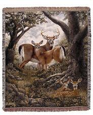 50x60 Deer Buck Wildlife Tapestry Afghan Throw Blanket