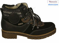 TAMARIS Schuhe Schnürstiefel Stiefelette  Ankle Boots echt Leder schwarz NEU