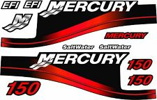 Mercury Outboard 150HP Decal Kit,Red Saltwater Motor Cover Decals