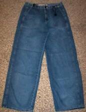 Maurices Wide Leg Drawstring Mid Rise Factory Faded Blue Jeans size 7 8 @ cLOSeT