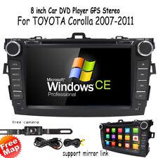 "8"" Car DVD CD Radio GPS Navi stereo IPod TV for Toyota Corolla 2009 2010 +Camera"