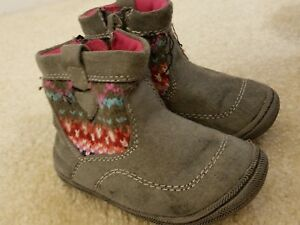 Toddler Boots Size 3 Girls from Target; Gray Knit