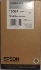 Originales Epson t6037 tinta Stylus Pro 7800 9800 7880 9880 light black 2012 OVP