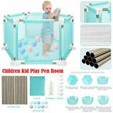 Baby Child Playpen Children Kid Play Pen Room 18 Poles/Bars Sided +Free 10*Ball