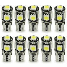 10 un. T10 5SMD 5050 Bombillas LED Coche Luces Interiores Ultra Brillante 12V MA1041 Blanco