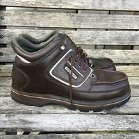 ROCKPORT XCS Hydro-Shield Waterproof Size 9 (W) Men's Brown Leather Boots Shoes