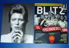 DAVID BOWIE, 21,5 cm. x 28 cm. deluxe photo + full magazine BLITZ, PORTUGAL