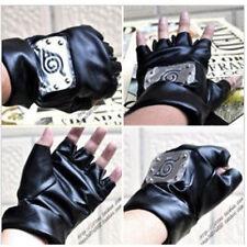 Naruto Konoha Kakashi PU Leather Gloves  Cosplay Props For Ninja Anime Fans