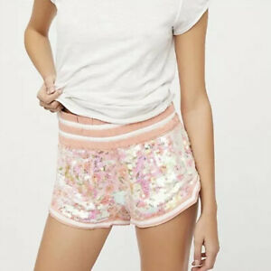 NWT Free People Bali Pink Sequin Short Size XS