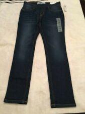 NWT Old Navy Skinny Pull-on Adj Waist Stretch Girls L (10-12) Jeans Dark Wash
