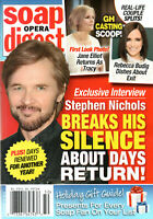 Soap Opera Digest Magazine December 16 2019 Stephen Nichols Billy Flynn