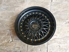 "1x 17"" RS Style Alloy Wheels 17x8.5 ET20 4x100 & 5x100 noir mat Bbs"