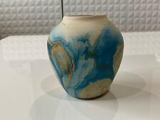 Vintage Nemadji Pottery Clay Swirl Art Pottery Pot Form Vase