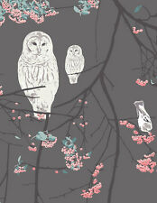 By the YARD Katarina Roccella Blithe Bird Songs Moon Art Gallery Fabric AGF Owls