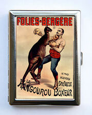 Boxer Kangaroo French Circus Poster Cigarette Case wallet card case sideshow