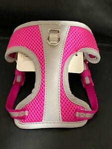 Top Paw Mesh Reflective Step in Harness Pink