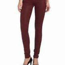 Juicy Couture Dark Crimson Pigment Coated Skinny Jeans size 27 NWT