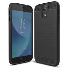 "Coque Antichoc Samsung Galaxy J7 2017 J730 (5.5"") Hybrid Brush Carbon Noir"