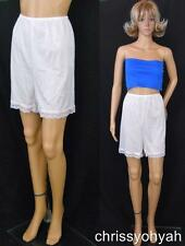 VTG Smart Fit White Nylon Lace Bloomers Petti Pants Sissy Tap Panties NWOT sz14