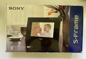 "Sony 9"" S-Frame Digital Photo Frame, Black - DPF-D95 + Remote, Cord - NIB"