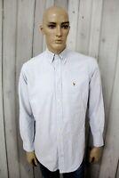 RALPH LAUREN Camicia Uomo Shirt Casual Manica Lunga Cotone Chemise Taglia XL