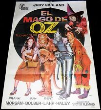 1939 The Wizard of Oz ORIGINAL SPAIN 72' POSTER Jano Amazing Art Judy Garland