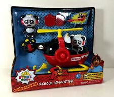 NEW Ryan's World Combo PANDA Action FIGURE & Rescue HELICOPTER Vehicle Launcher