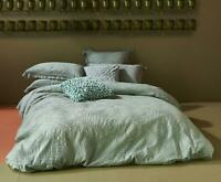KAS Terrell Cotton Quilt Cover Set Sage