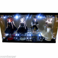 Acrylic Display Case Light Box for 4 Silkstone Barbie Doll 2016 2015 Collection
